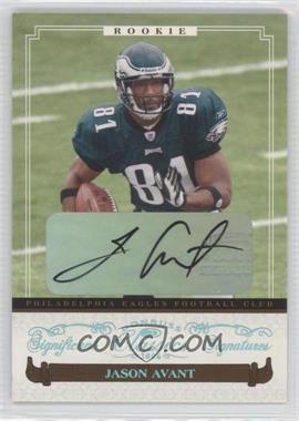 2006 Donruss Classics - [Base] - Significant Signatures Platinum [Autographed] #140 - Jason Avant /25