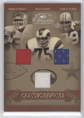 2006 Donruss Classics - Classic Triples - Jerseys [Memorabilia] #CT-3 - Deacon Jones, Derrick Thomas, Harvey Martin /100