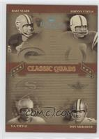 Don Meredith, Johnny Unitas, Bart Starr, Y.A. Tittle /10