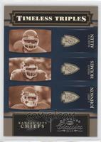 Marcus Allen, Priest Holmes, Larry Johnson /250