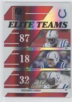 Reggie Wayne, Peyton Manning, Edgerrin James /500