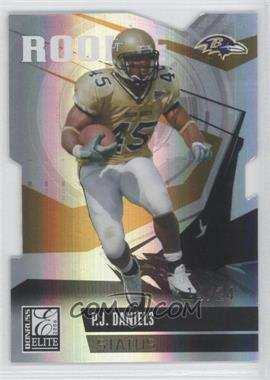 2006 Donruss Elite Status Gold Die-Cut #201 - P.J. Daniels /24