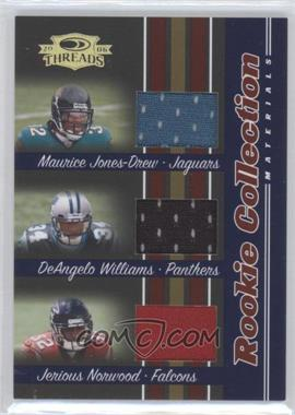 2006 Donruss Threads - Rookie Collection Triples Materials #RCTM-8 - Maurice Jones-Drew, DeAngelo Williams, Jerious Norwood /500