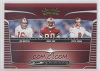 Johnnie Morton, Jerry Rice, Steve Young, Joe Montana
