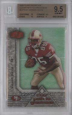 2006 Flair Showcase Clear Patch to Greatness #CPTG41 - Vernon Davis [BGS 9.5]