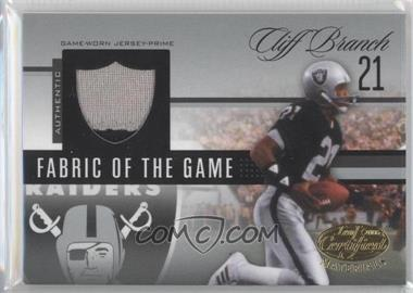 2006 Leaf Certified Materials Fabric of the Game Team Logo #FOTG-7 - Cliff Branch /25