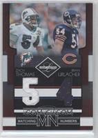 Zach Thomas, Brian Urlacher /100
