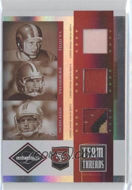 2006 Leaf Limited [???] #TTT-3 - Y.A. Tittle, Joe Montana, Steve Young /30