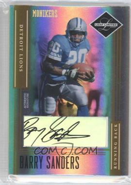 2006 Leaf Limited Monikers Gold [Autographed] #132 - Barry Sanders /20