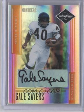2006 Leaf Limited Monikers Gold [Autographed] #139 - Gale Sayers /40