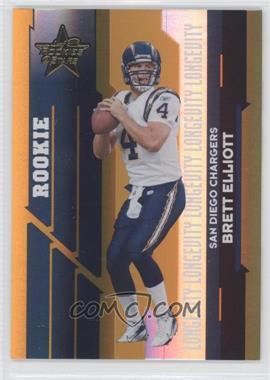 2006 Leaf Rookies & Stars - [Base] - Longevity Parallel Gold #198 - Brett Elliott /25