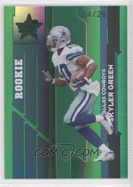 2006 Leaf Rookies & Stars Longevity Emerald #164 - Skyler Green /29