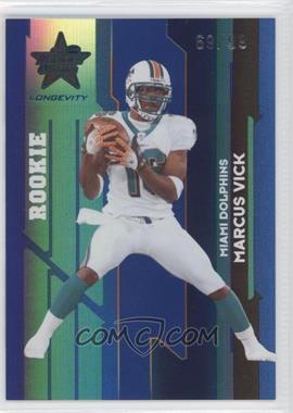 2006 Leaf Rookies & Stars Longevity Sapphire #186 - Marcus Vick /99