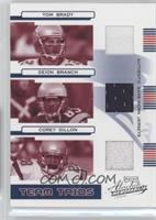 Tom Brady, Deion Branch, Corey Dillon /100