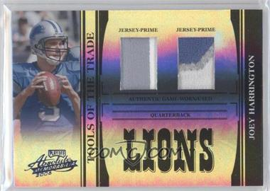 2006 Playoff Absolute Memorabilia Tools of the Trade Black Spectrum Double Prime Material #TOT-80 - Joey Harrington /25