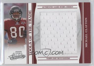 2006 Playoff Absolute Memorabilia Tools of the Trade Red Jumbo Materials [Memorabilia] #TOT-102 - Michael Clayton /50