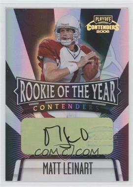 2006 Playoff Contenders - Rookie of the Year Contenders - Black Autographs [Autographed] #ROY-13 - Matt Leinart /25