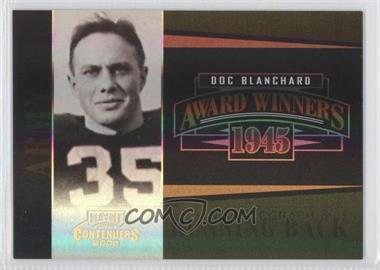 2006 Playoff Contenders Award Winners Autographs [Autographed] #AW-37 - Doc Blanchard (No Autograph) /200