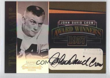 2006 Playoff Contenders Award Winners Signatures [Autographed] #AW-25 - John David Crow /200