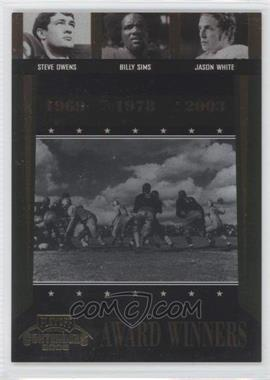 2006 Playoff Contenders Award Winners #AW-42 - Billy Sims, Jason White, Steve Owens /1000