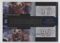 Brandon Williams, Manny Lawson /1000