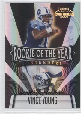 2006 Playoff Contenders Rookie of the Year Contenders Black #ROY-8 - Vince Young /100