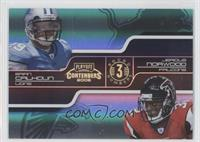 Brian Calhoun, Jerious Norwood /100