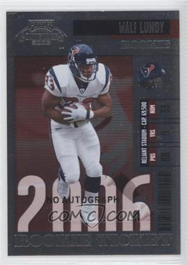 2006 Playoff Contenders #107 - Wali Lundy