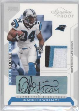 2006 Playoff NFL Playoffs - [Base] - Silver Signature Proof Materials [Autographed] [Memorabilia] #75 - DeAngelo Williams /50