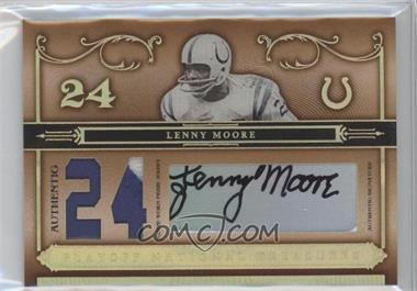 2006 Playoff National Treasures - [Base] - Jersey Number Materials Prime Signatures [Autographed] [Memorabilia] #23 - Lenny Moore /24