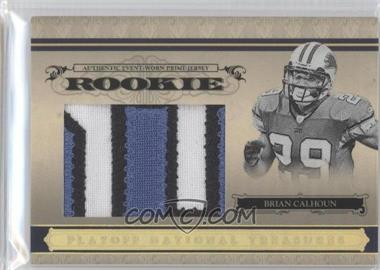 2006 Playoff National Treasures - [Base] - Rookie Jumbo Gold Materials Prime [Memorabilia] #118 - Brian Calhoun /10