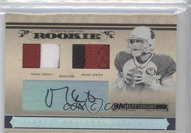 2006 Playoff National Treasures - [Base] - Rookie Silver Combo Materials Signatures [Autographed] [Memorabilia] #111 - Matt Leinart /99
