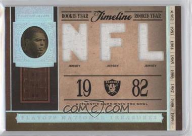 2006 Playoff National Treasures - Timeline - NFL Materials [Memorabilia] #TL-MA - Marcus Allen /99