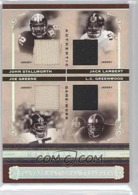 2006 Playoff National Treasures [???] #MQ-SLGG - Jack Lambert, Joe Greene, L.C. Greenwood, John Stallworth /25