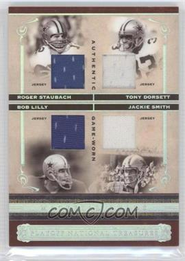 2006 Playoff National Treasures Material Quads #MQ-SDLS - Tony Dorsett, Bob Lilly, Jackie Smith, Roger Staubach /25