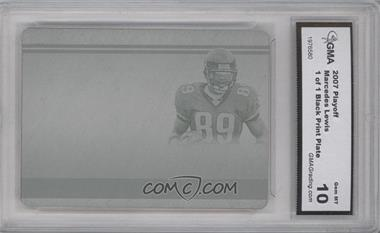 2006 Playoff National Treasures Printing Plate Black #130 - Marcedes Lewis /1 [ENCASED]