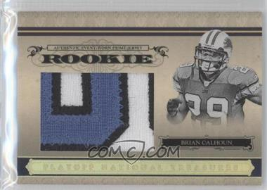 2006 Playoff National Treasures Rookie Gold Jumbo Prime Jersey #118 - Brian Calhoun /10