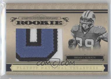 2006 Playoff National Treasures Rookie Jumbo Gold Materials Prime [Memorabilia] #118 - Brian Calhoun /10