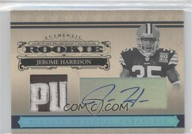 2006 Playoff National Treasures Rookie Platinum Materials Prime Signatures [Autographed] [Memorabilia] #145 - Jerome Harrison /1