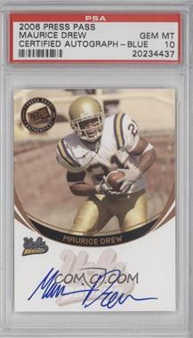 2006 Press Pass - Autographs - Bronze #MADR - Maurice Drew [PSA 10]