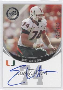 2006 Press Pass - Autographs - Silver #ERWI - Eric Winston /200