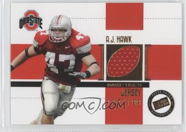 2006 Press Pass Game-Used Jersey Gold #JC/AH - A.J. Hawk /199