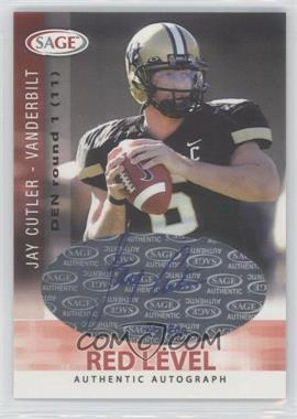2006 SAGE - Autographs - Red Level #A14 - Jay Cutler /200