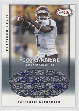 2006 SAGE [???] #A33 - Reggie McNeal