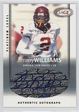 2006 SAGE [???] #A55 - Jimmy Williams /50
