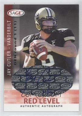 2006 SAGE Autographs Red Level #A14 - Jay Cutler /200