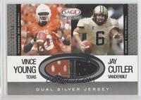 Vince Young, Jay Cutler /50