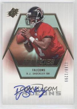 2006 SPx Rookie Autographs #160 - D.J. Shockley /1299