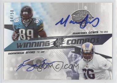 2006 SPx Winning Combos #WC-BL - Dominique Byrd /50