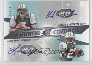 2006 SPx Winning Combos #WC-KL - Leon Washington, Kellen Clemens /50